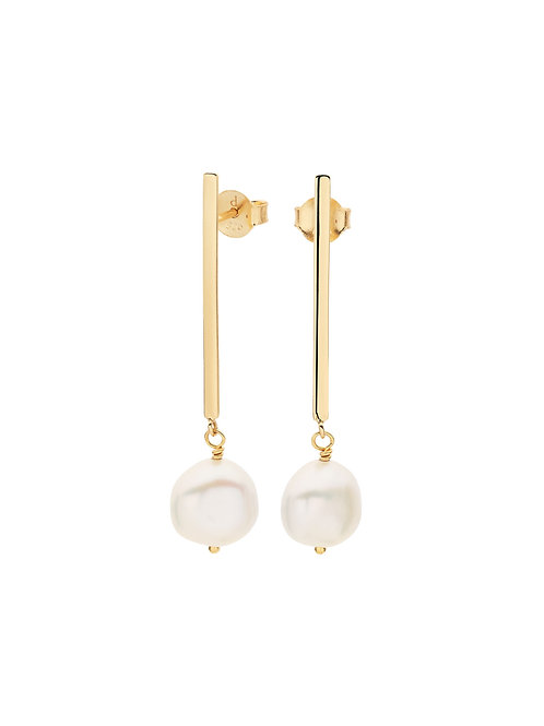 Pastiche E1889YGPL Oceania Earrings Freshwater Pearl Yellow