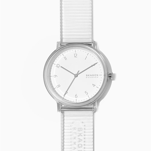 Skagen SKW6605 Aaren Transparent Three-Hand Clear 41mm Watch