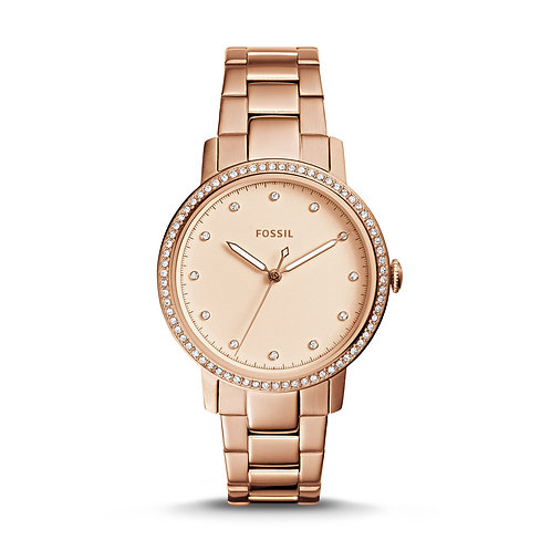 Fossil ES4288 Neely Three-Hand Rose-Tone Stainless Steel Watch