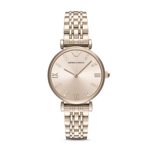 Emporio Armani AR11059 Ladies Classic Rose-Tone Watch