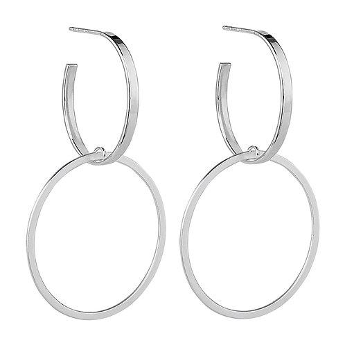 Najo E6055 Flounce Silver Earring