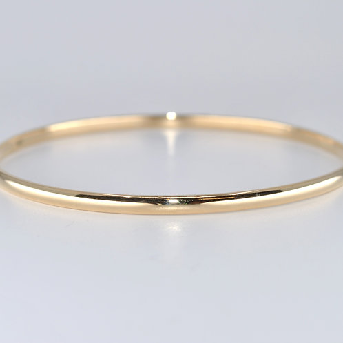 J020Y 9ct Yellow Gold Solid Bangle