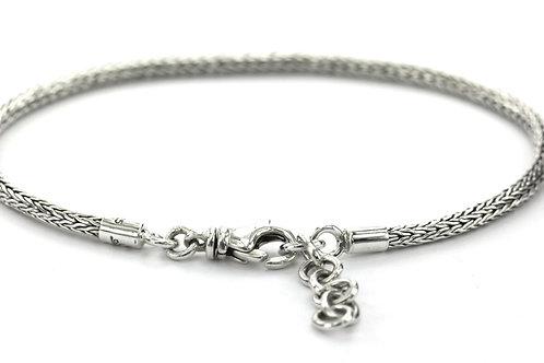 Indiri TN2N NAGA Sterling Silver Woven Bracelet
