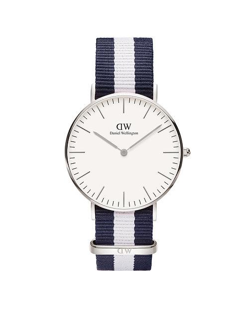 Daniel Wellington DW00100018 Classic Glasgow Silver 40mm White