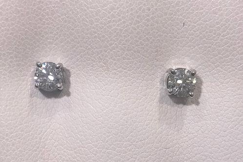 18ct White Gold Diamond Studs