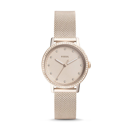 Fossil ES4364 Neely Three-Hand Pastel Pink Stainless Steel Watch