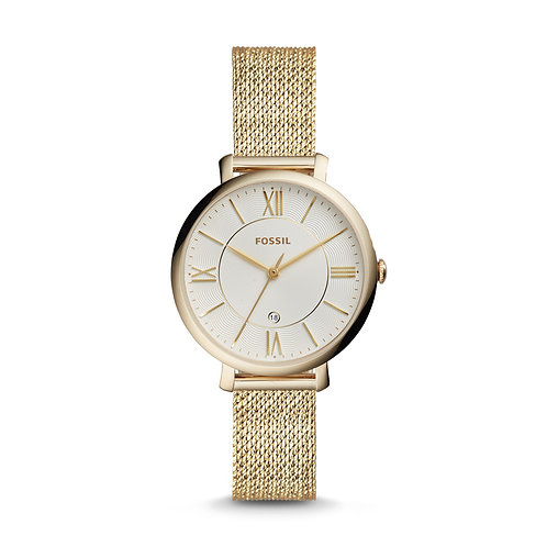 Fossil ES4353 Jacqueline Three-Hand Gold-Tone Stainless Steel Watch