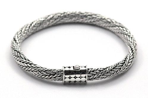 Indiri B208 SOHO Sterling Silver Twisted Woven Naga Bracelet