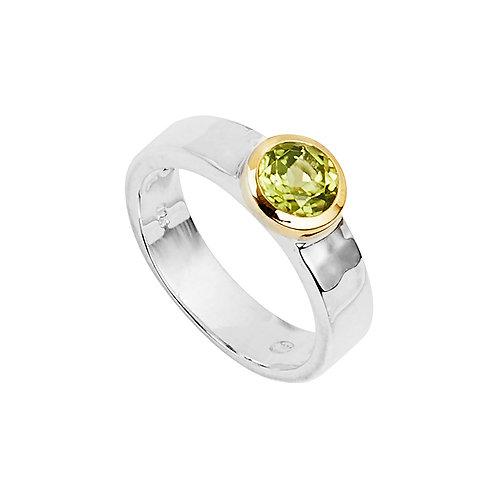 Najo R6265L Flora   Renown Ring Peridot Silver/Yellow