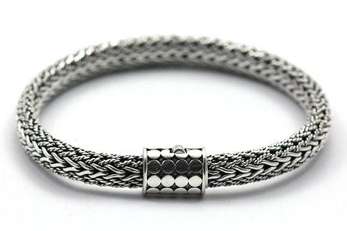 Indiri B167 SOHO Sterling Silver Textured Woven Naga Bracelet