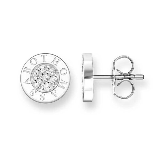 """Thomas Sabo H1547-051-14 Sterling Silver Ear Studs """"Classic Pave"""""""