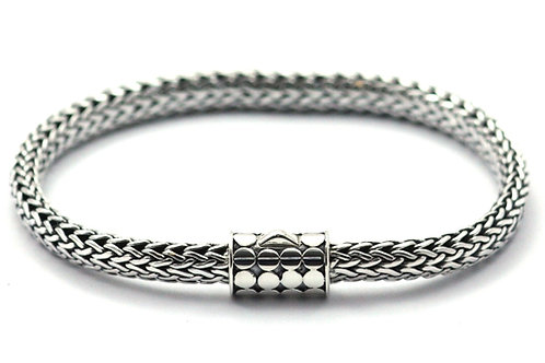 Indiri B846 SOHO Sterling Silver Naga Woven Bracelet