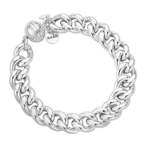 Najo B5248 La Luna Curb Your Envy Bracelet Silver