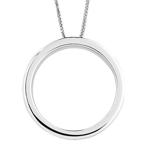 Najo N5754 Circle Necklace Silver