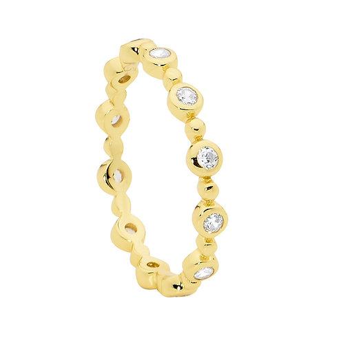 Ellani R491G Fine CZ set Ring Yellow