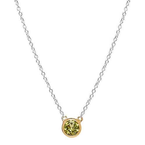 Najo N6265 Renown Necklace Peridot Silver/Yellow