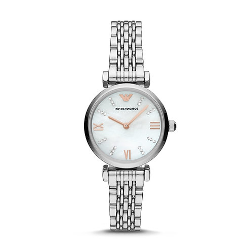 Emporio Armani AR11204 Ladies Classic Mother-of-Pearl Watch