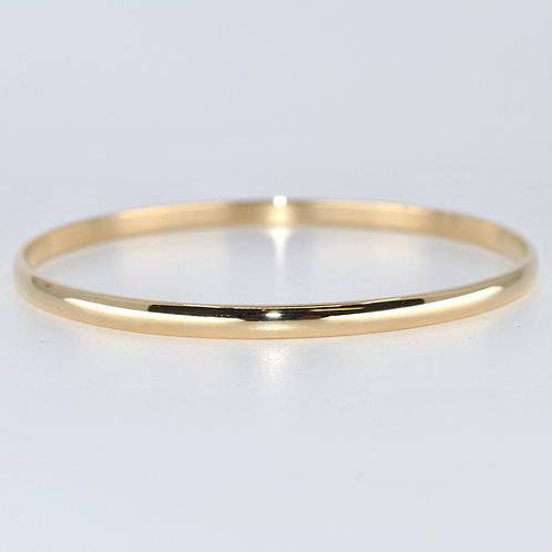 J017Y 9ct Yellow Gold Solid Bangle