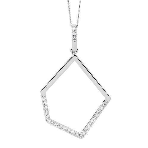 Ellani P836S Drop Pendant Silver