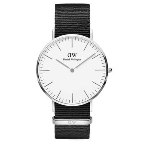 Daniel Wellington DW00100258 Classic Cornwall Silver 40mm White