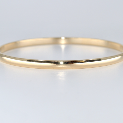 J019Y 9ct Yellow Gold Solid Bangle
