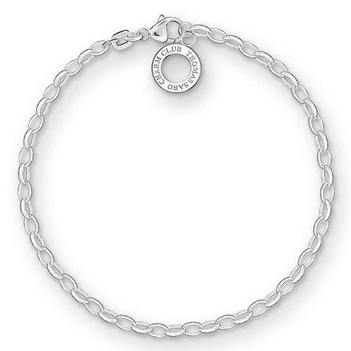Thomas Sabo X0163-001-12-L Sterling Silver 'Classic Fine Link' Bracelet