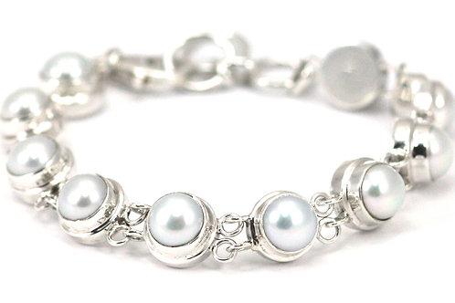 Indiri B745PL PADMA Sterling Silver Freshwater Pearl Bracelet