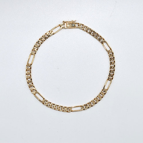 J031Y 9ct Yellow Gold Solid Bracelet