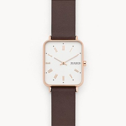 Skagen SKW6618 Ryle Two-Hand Brown Leather Watch