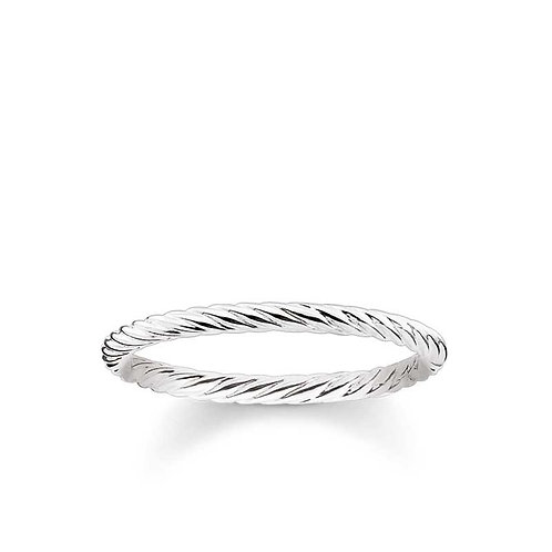 """Thomas Sabo TR2121-001-12-54 Sterling Silver """"Cord Look"""" Ring"""