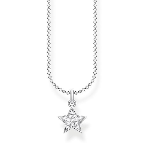 Thomas Sabo KE2052 Sterling Silver Necklace Star with Cubic Zirconia's