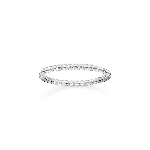 """Thomas Sabo TR2122-001-12-52 Silver Tone """"Dots"""" Ring"""