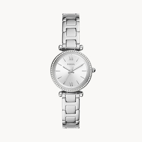 Fossil ES4956 Carlie Mini Three-Hand Stainless Steel Watch