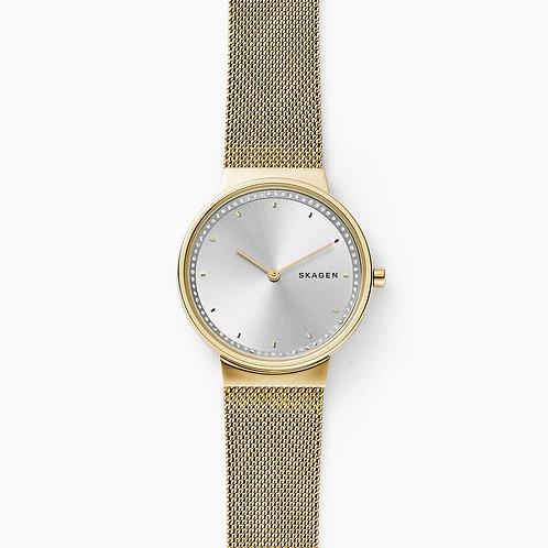 Skagen SKW2755 Annelie Gold-Tone Steel-Mesh Watch