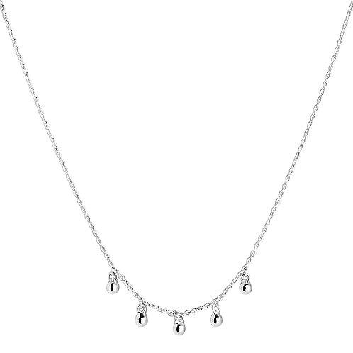 Najo N5743 Verity Drop Necklace Silver