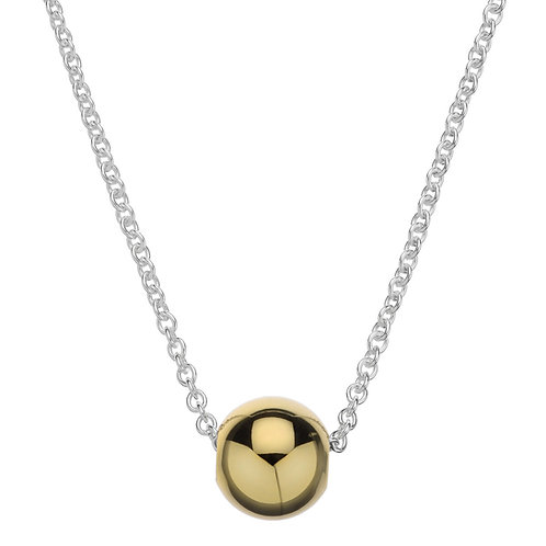 Najo N5556 Ball Necklace Silver/Yellow