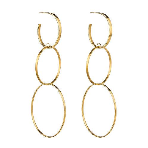 Najo E6057 Flounce Large Gold Earring