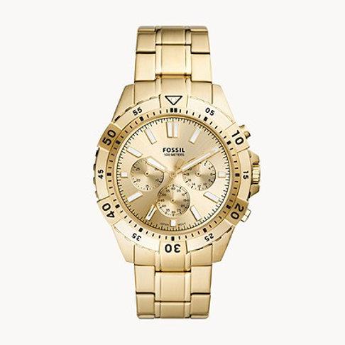 Fossil FS5772 Garrett Chronograph Gold-Tone Stainless Steel Watch