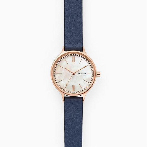 Skagen SKW2864 Anita Three-Hand Blue Leather Watch