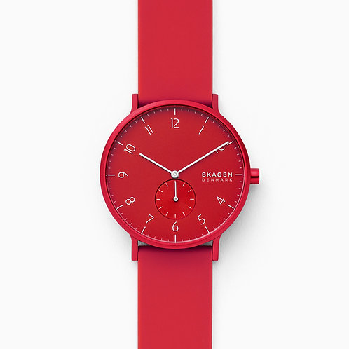 Skagen SKW6512 Aaren Kulor Red Silicone 41mm Watch