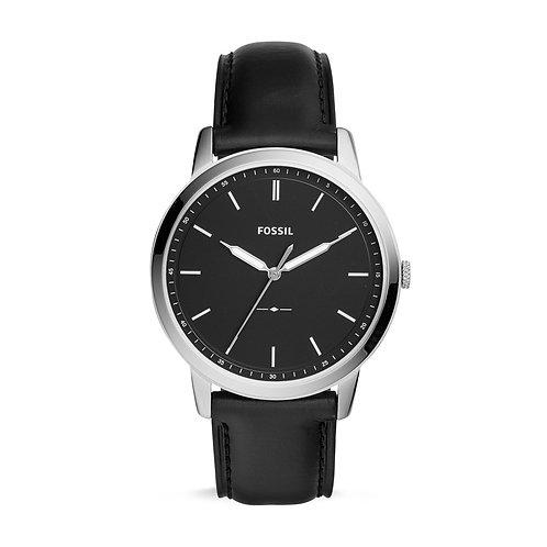 Fossil FS5398 The Minimalist Three-Hand Black Leather Watch