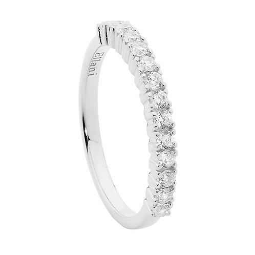 Ellani R497S Claw set CZ Ring Silver