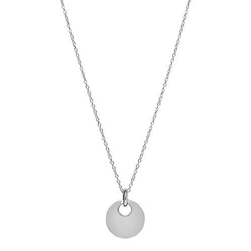 Najo N6202 Lentil Necklace Silver