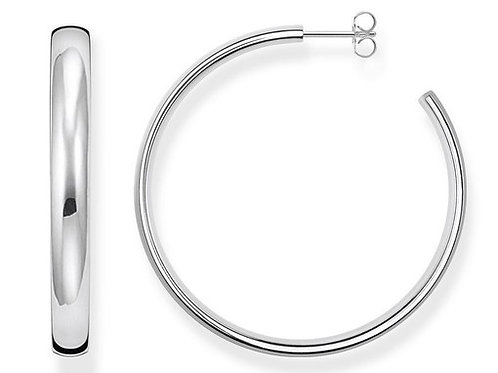 """Thomas Sabo TCR641 Sterling Silver Hoop Earrings """"Classic Large"""""""