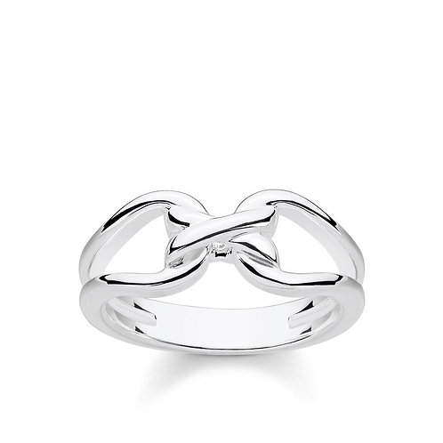 """Thomas Sabo TR2236-54 Silver """"Heritage Entwined"""" Ring"""