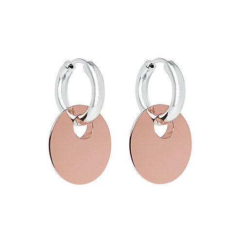 Najo E6203 Lentil Rose/Silver Earring