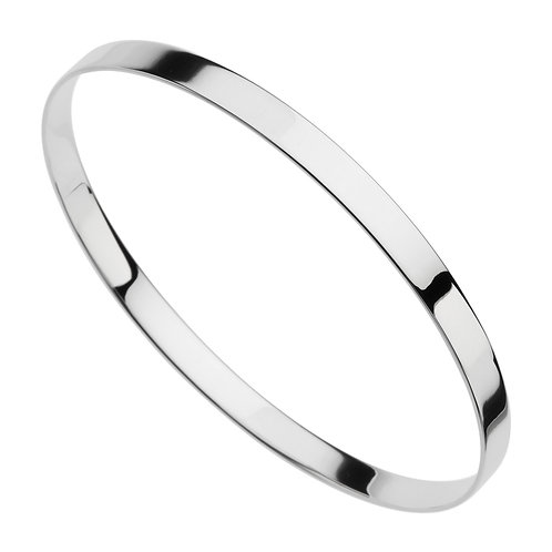 Najo B5550 Ribbon 5mm Bangle Silver