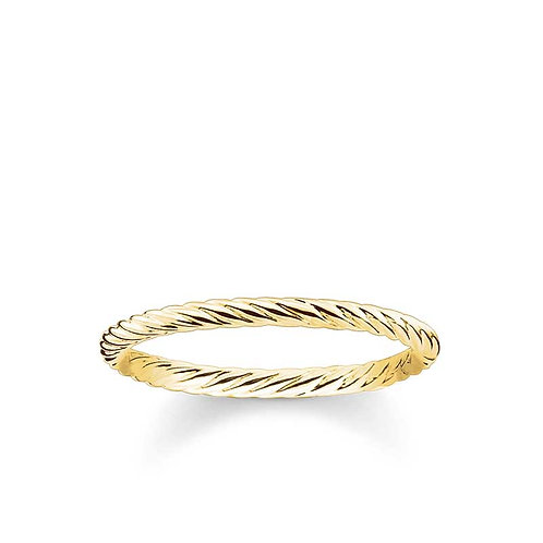 """Thomas Sabo TR2121Y52 Yellow Tone Fine """"Rope"""" Style Ring"""