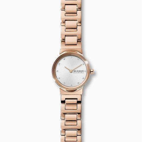 Skagen SKW2791 Freja Rose Gold-Tone Steel-Link Watch