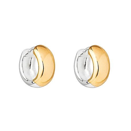 Najo E6136 Breeze Yellow/Silver Huggie Earring